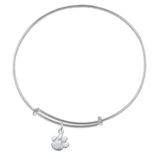 Clemson Sterling Silver Charm Adjustable Bracelet