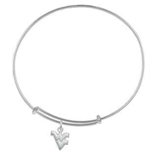 WVU Sterling Silver Charm Adjustable Bracelet