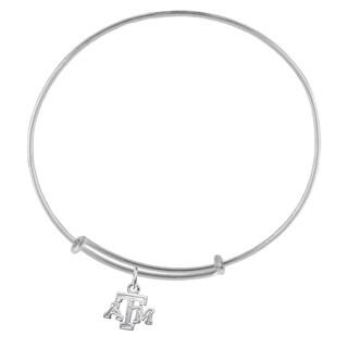 Texas A&M Sterling Silver Charm Adjustable Bracelet