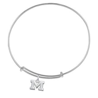Michigan Sterling Silver Charm Adjustable Bracelet