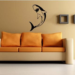 Great White Shark Vinyl Sticker Wall Art