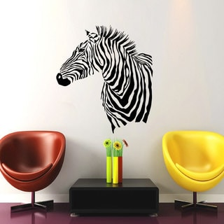 Zebra Print Vinyl Sticker Wall Art