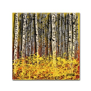 Roderick Stevens 'Fall Aspens' Canvas Art