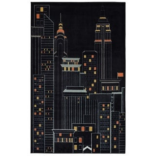 Mohawk Home Aurora New York City Black (5' x 8')