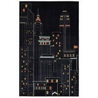 Mohawk Home Aurora New York City Black (5' x 8') - 5' x  8'