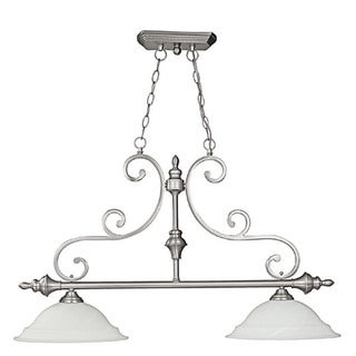 Capital Lighting Chandler Collection 2-light Matte Nickel Island Light Fixture