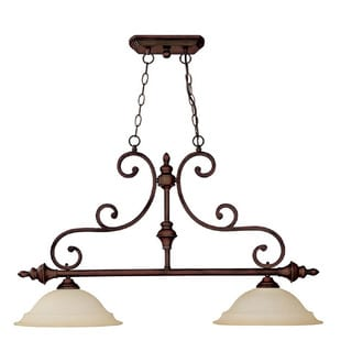 Capital Lighting Chandler Collection 2-light Burnished Bronze Island Light Fixture