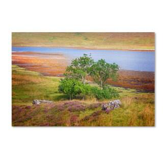 Philippe Sainte-Laudy 'Sky in Lake' Canvas Art
