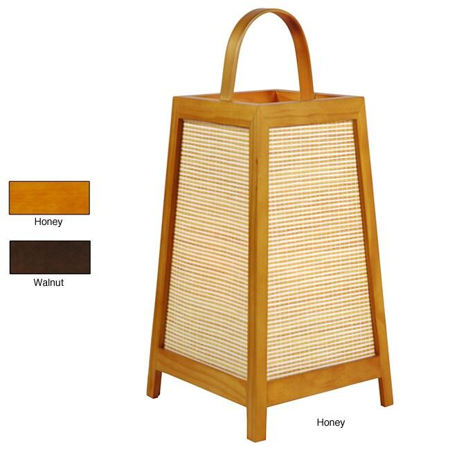 Handmade Akida 17-inch Shoji Lamp (China)