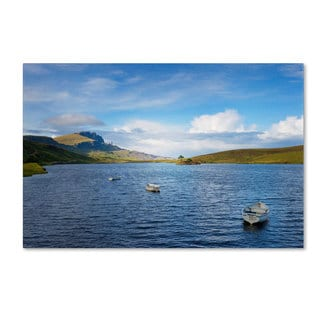 Philippe Sainte-Laudy 'Lake Leathan' Canvas Art