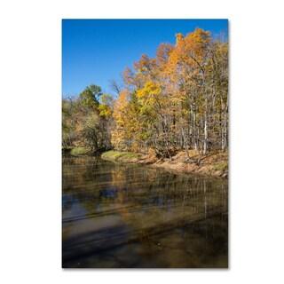 Kurt Shaffer 'Vermilion River Autumn' Canvas Art