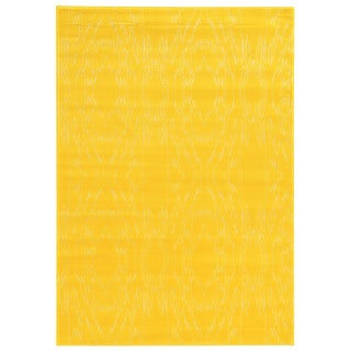 Linon Prisma Electric Yellow Rug (5'3-inch x 7'6-inch)