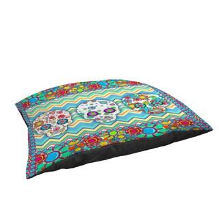 Thumbprintz Sugar Skull Chevron Box Indoor/ Outdoor Pet Bed