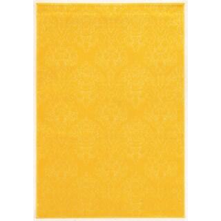 Linon Prisma Chloe Yellow Rug (5'3-inch x 7'6-inch)