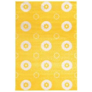 Linon Prisma Karma Yellow Rug (8' x 10'4-inch)