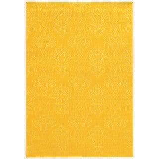 Linon Prisma Chloe Yellow Rug (8' x 10'4-inch)