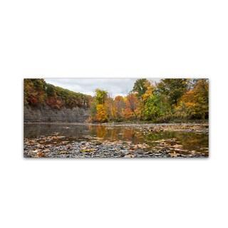 Kurt Shaffer 'Rocky River Autumn' Canvas Art