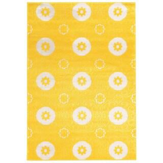 Linon Prisma Karma Yellow Rug (2' x 3')