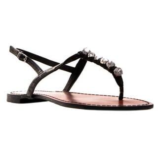 Gomax Women's Berdine 61 Rhinestone T-Strap Sandals
