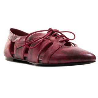 Gomax Women's Giulia-06 Cut-out Lace-up Oxford Flat