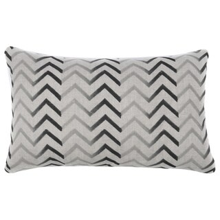 22-inch Zig-zag Charcoal Accent Pillow