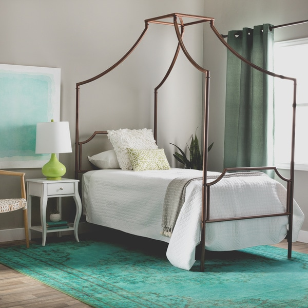 Bailey Brushed Copper Twin-size Canopy Bed & Bailey Brushed Copper Twin-size Canopy Bed - Free Shipping Today ...
