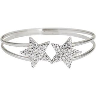 Decadence Sterling Silver Star Crystal Cuff Bracelet