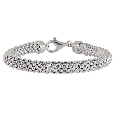 Decadence Sterling Silver Popcorn Chain Bracelet