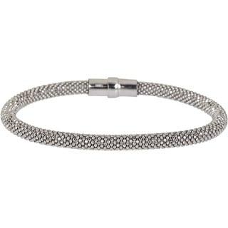 Decadence Sterling Silver Magnetic Mesh Bracelet