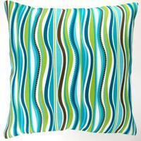 Artisan Pillows Indoor/ Outdoor 18-inch Blue Green Stripe Modern Caribbean Coastal Beach House Throw Pillow Cover (Set of 2)