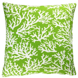 Artisan Pillows Indoor/ Outdoor 18-inch Apple Green Coral Reef Modern Coastal Living Beach House Throw Pillow Cover (Set of 2)
