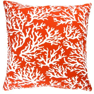 artisan pillows indoor outdoor 18inch mandarin orange coral reef beach house decor throw