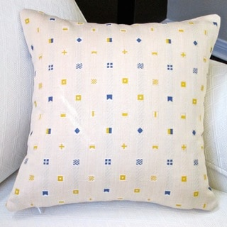 Artisan Pillows Indoor/ Outdoor 18-inch Sunbrella Fabric Boating Embroidered Sailing Flags Beach House Throw Pillow Cover