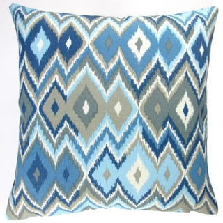 Artisan Pillows Indoor/ Outdoor 18-inch Blue Lake Modern Contemporary Geometric Beach Lake House Throw Pillow (Set of 2)