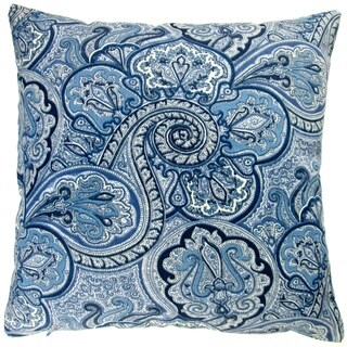 Artisan Pillows Outdoor 18-inch Blue Paisley Modern Contemporary Geometric Coastal Beach Decor Throw Pillow Cover (Set of 2)