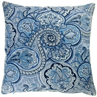 Artisan Pillows Outdoor 18-inch Blue Paisley Modern Contemporary Geometric Coastal Beach Decor Throw Pillow Cover (Set of 2)