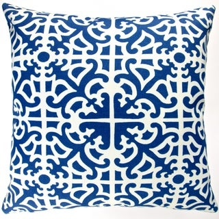Artisan Pillows Indoor/ Outdoor 18-inch Classic Indigo Blue Garden Maze Modern Geometric Throw Pillow (Set of 2)