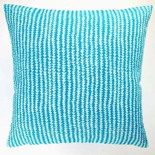 Artisan Pillows Indoor/ Outdoor 18-inch Blue Arrow Stripe Modern Geometric Caribbean Beach Throw Pillow (Set of 2)