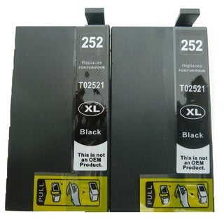 2-Pack Replacing T252XL120 Black Ink Cartridge For Epson WF-3620 WF-3640 WF-7110 WF-7610 WF-7620 Printer