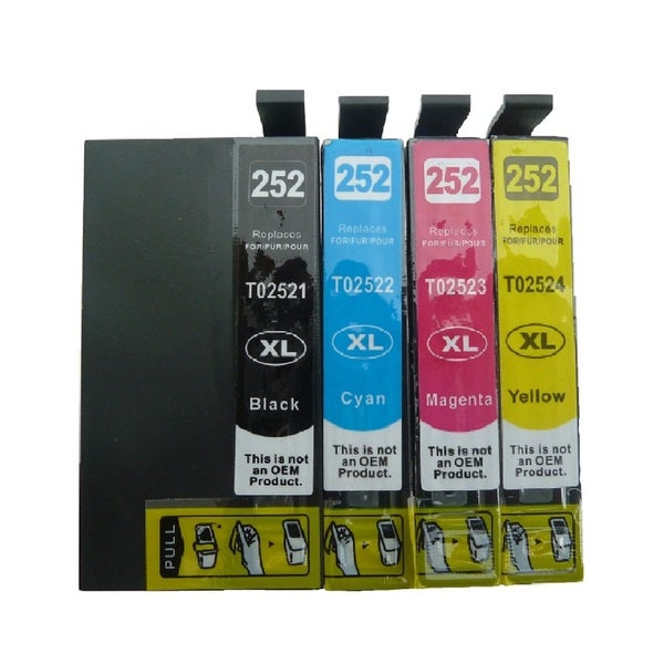 4-Pack Replacing T252XL Ink Cartridge Set of 252 T252 For Epson WF-3620 WF-3640 WF-7110 WF-7610 WF-7620 Printer