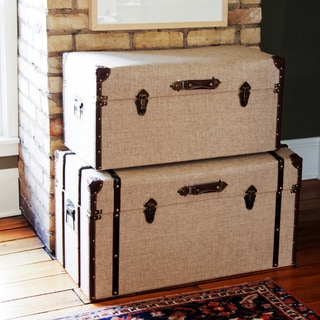 Linen Nesting Trunks (Set of 2)