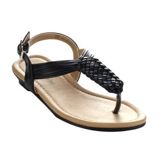 Little Angel Terry-744E Children's Woven Sling Back Thong Sandal