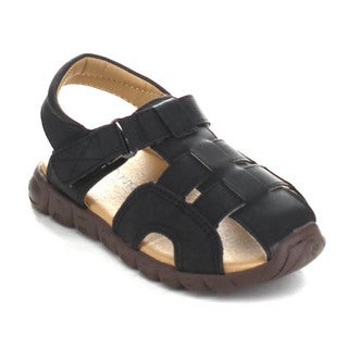 Auston Gable-834 Children's Light Weight Caged Sling Back Flat Sandals