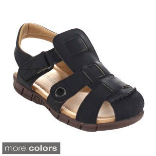 Auston Arsen-829 Children's Light Weight Caged Sling Back Flat Sandals