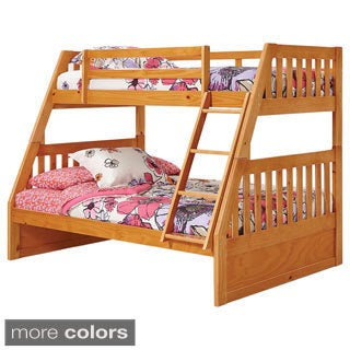 Woodcrest Pine Ridge Twin Full Mission Bunk Bed