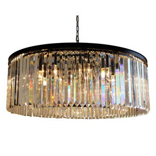 Link to D'Angelo 12-Light Round Fringe Clear Crystal Chandelier - N/A Similar Items in Chandeliers