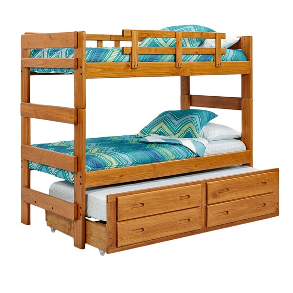woodcrest heartland collection extra tall stacking bunk bed - free