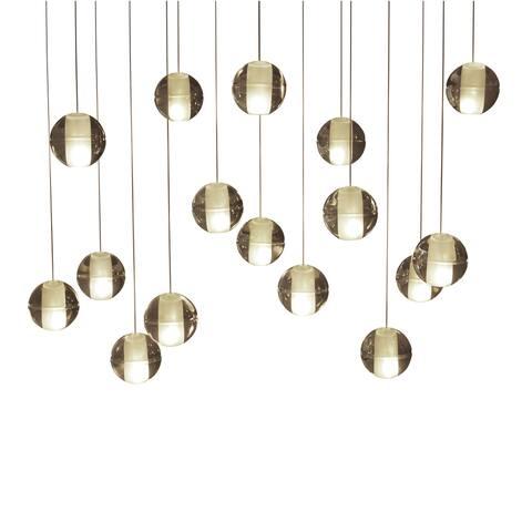 Orion 16-light Glass Globe Bubble Rectangular Pendant Chandelier - N/A