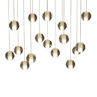 Orion 16-light Glass Globe Bubble Rectangular Pendant Chandelier
