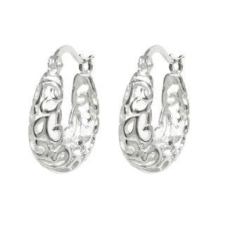 Queenberry Sterling Silver Large Filigree Flower Hoop Earrings|https://ak1.ostkcdn.com/images/products/10219916/P17341486.jpg?impolicy=medium